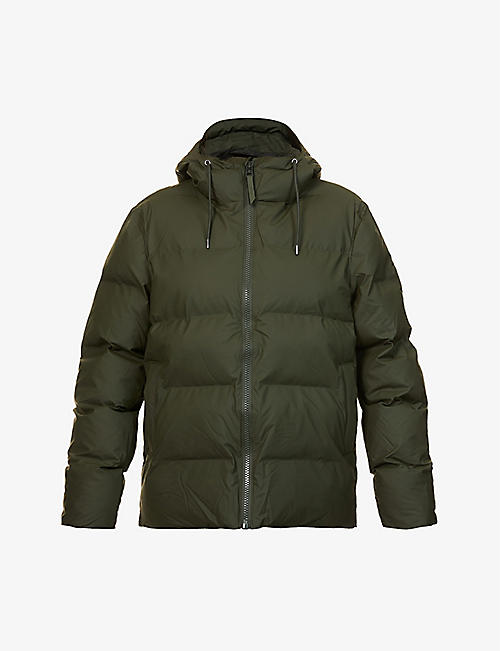 RAINS: Hooded shell puffer jacket