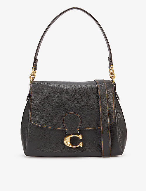 COACH: May pebbled leather shoulder bag