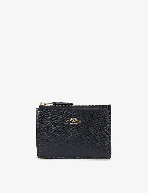 COACH: Mini Skinny grained-leather wallet and keyring