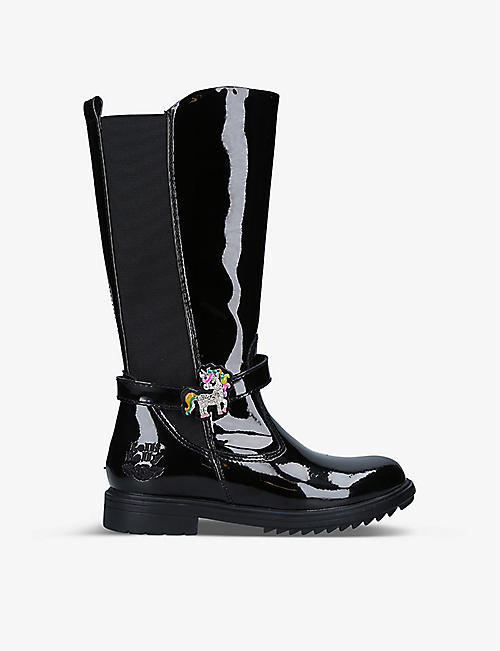 LELLI KELLY: Frances patent leather boots 6-10 years