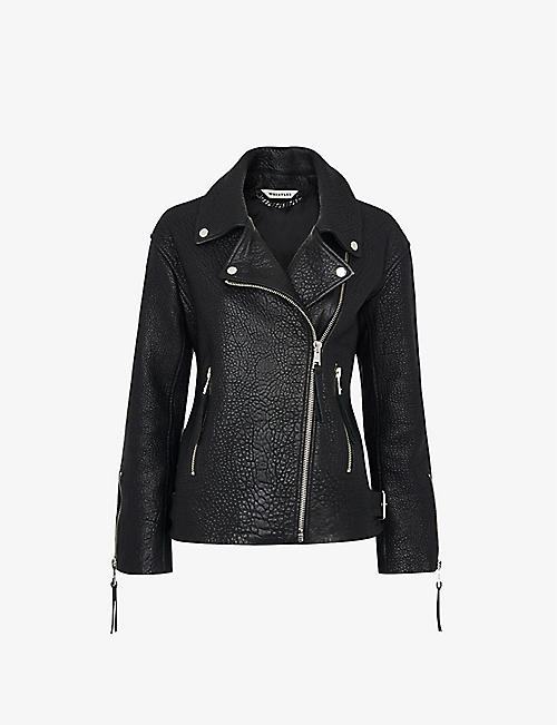 WHISTLES: Lily leather biker jacket