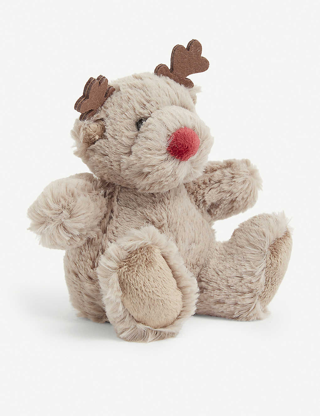 THE LITTLE WHITE COMPANY: Jingles reindeer soft toy 13.5cm