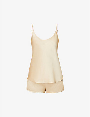 LA PERLA: Silk Essence shorts silk-satin pyjama set