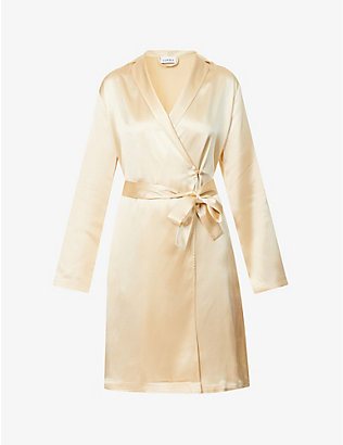 LA PERLA: Silk Essence silk-satin robe