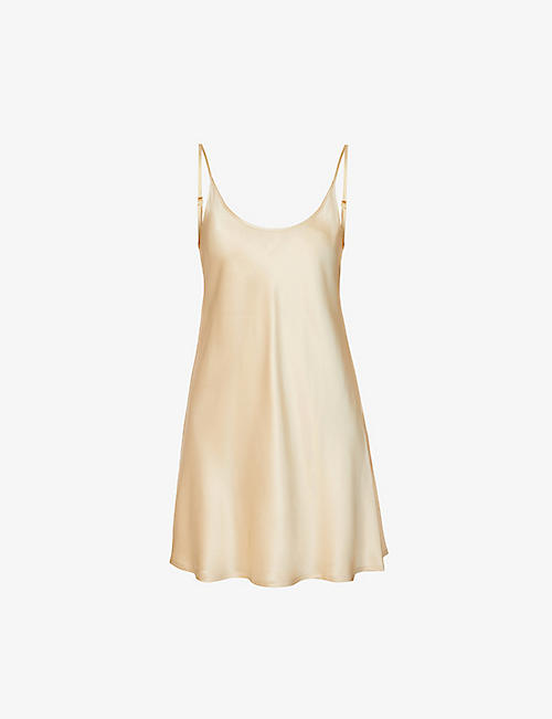 LA PERLA: Silk Essence silk-satin nightdress