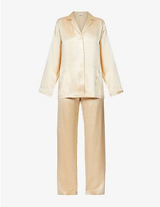 LA PERLA: Silk Essence silk-satin pyjama set