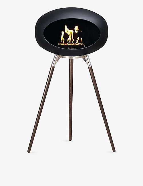 LE FEU: Ground wood bio ethanol fireplace