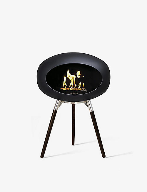 LE FEU: Ground wood bio ethanol fireplace 45cm