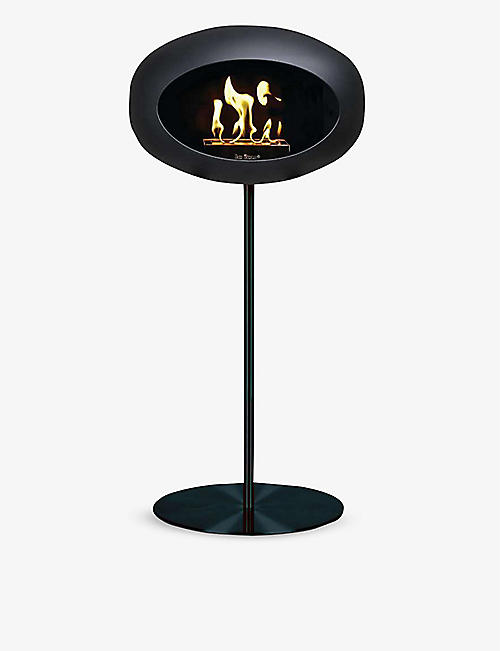 LE FEU: Ground steel fireplace 115cm
