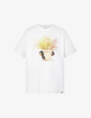 CARHARTT WIP: Delly Bucket floral-print organic-cotton jersey T-shirt