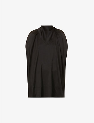 SSONE: Apex high-neck stretch-crepe blouse