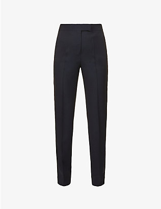SSONE: Metta tapered high-rise wool-blend trousers