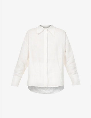 SSONE: Woodhouse relaxed-fit hemp shirt
