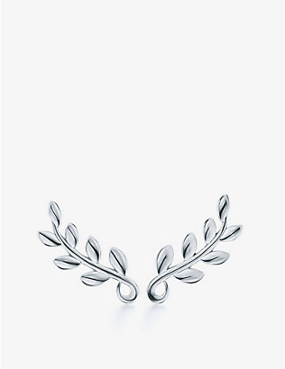 TIFFANY & CO: Paloma Picasso Olive Leaf sterling silver climber earrings