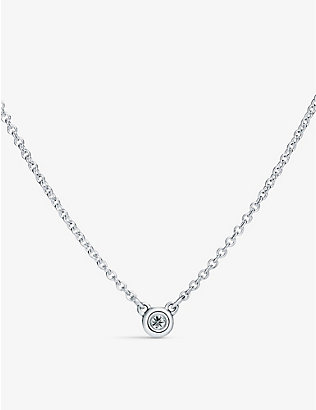TIFFANY & CO: Elsa Peretti® Diamonds by the Yard sterling silver and diamond necklace