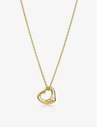 TIFFANY & CO: Elsa Peretti® Open Heart 18ct gold necklace