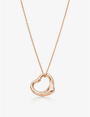 TIFFANY & CO: Elsa Peretti® Open Heart rose-gold pendant