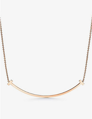 TIFFANY & CO: Tiffany T Smile extra-large 18ct rose-gold necklace