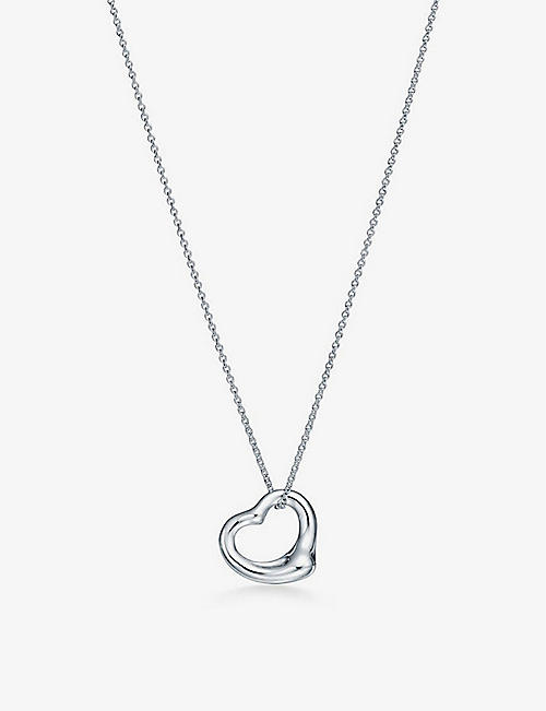 TIFFANY & CO: Open Heart medium sterling-silver pendant necklace