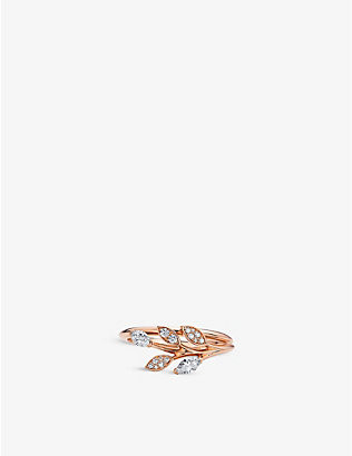 TIFFANY & CO: Tiffany Victoria Vine diamond and 18ct rose-gold ring