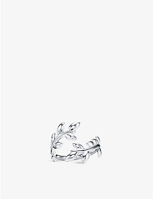 TIFFANY & CO: Olive Leaf Bypass sterling-silver band ring