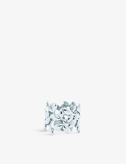 TIFFANY & CO: Olive Leaf sterling-silver band ring
