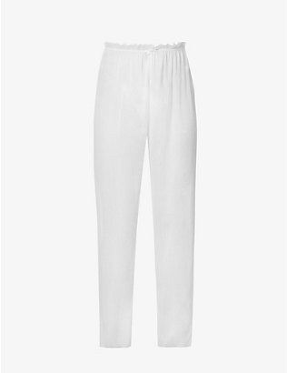 WEWOREWHAT: Relaxed-fit wide high-rise woven trousers