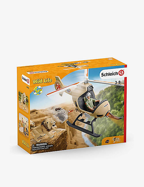 SCHLEICH: Animal Rescue Helicopter toy set