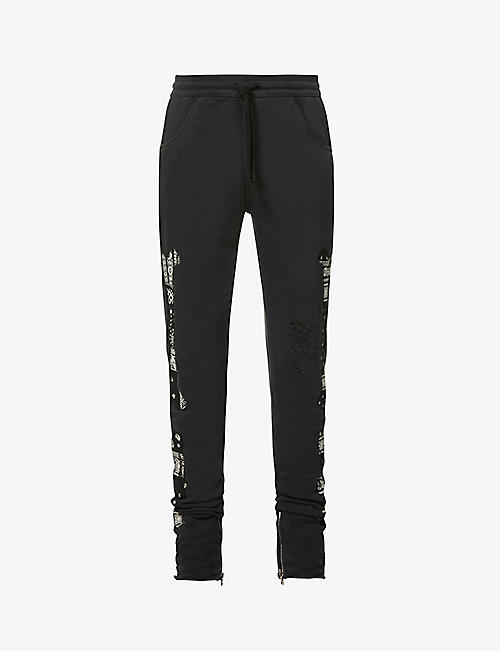 ALCHEMIST: Burnout Riders slim cotton-jersey jogging bottoms