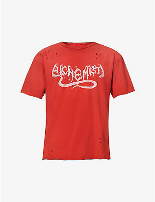 ALCHEMIST: Hong Kong Garden distressed cotton-jersey T-shirt