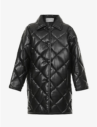 STAND: Jacey quilted faux-leather jacket