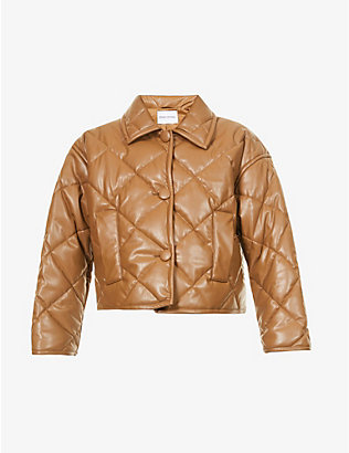 STAND: Jacinda quilted faux-leather jacket
