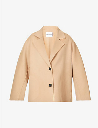 STAND: Antonia single-breasted wool-bend jacket