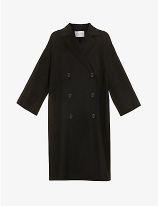 STAND: Mikaela double-breasted wool-blend coat