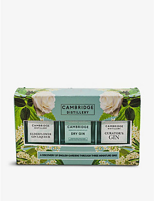 CAMBRIDGE GIN: Cambridge Distillery Gin Trio gift set 3 x 50ml