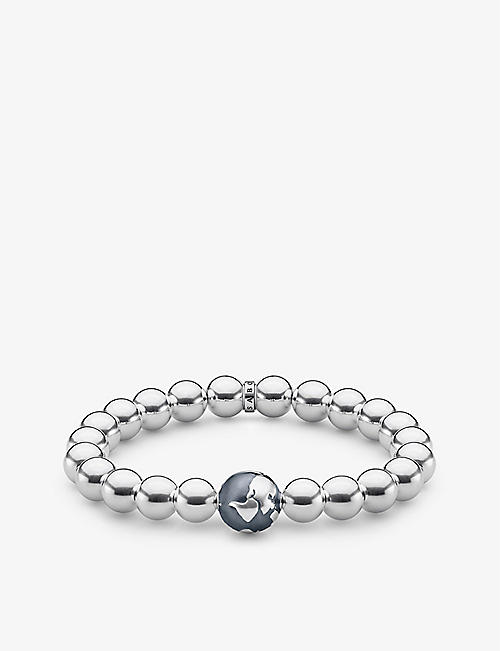 THOMAS SABO: Globe sterling silver beaded bracelet