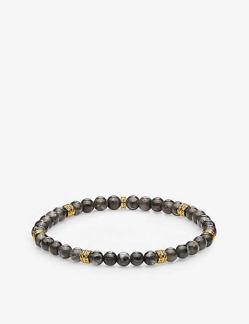 THOMAS SABO: Lucky Charms 18ct gold-plated and marble beaded bracelet