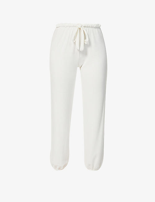 EBERJEY: Winter Heather mid-rise stretch-woven pyjama bottoms