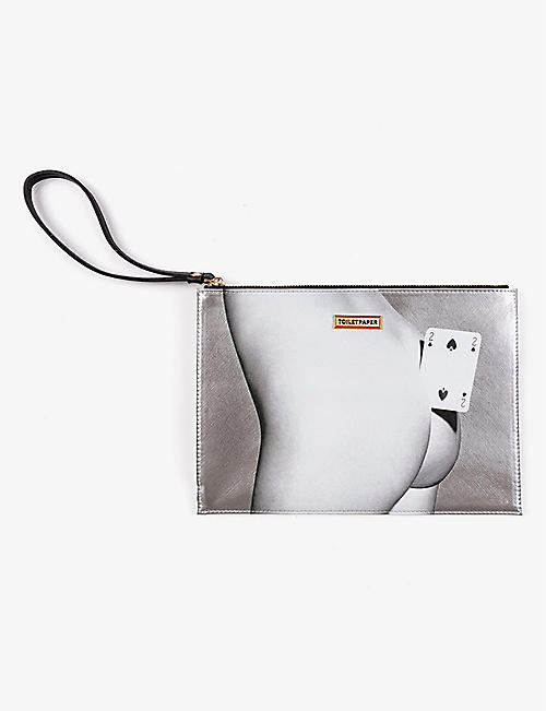 SELETTI: Toiletpaper Loves Seletti Two of Spades pouch bag