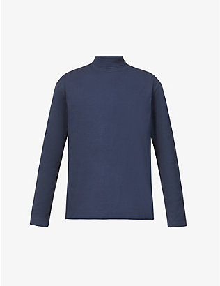 SUNSPEL: Turtleneck relaxed-fit cotton-jersey top