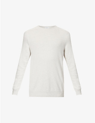 SUNSPEL: Crewneck cashmere and cotton-blend jumper