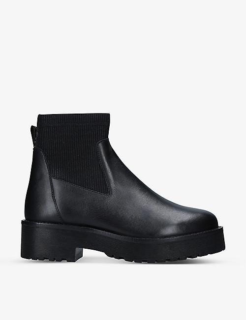 KG KURT GEIGER: Tyson leather sock Chelsea boots