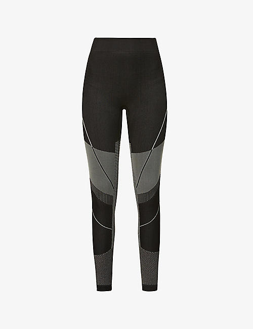 LAPP THE BRAND: Logo-print stretch-woven leggings