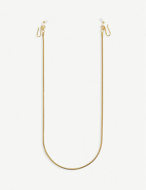 LELE SADOUGHI: Snake 14ct gold-plated glasses chain