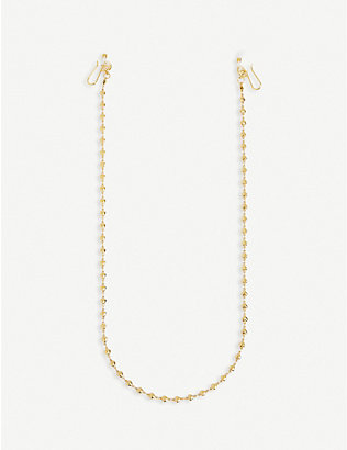 LELE SADOUGHI: Heart 14ct gold-plated glasses chain