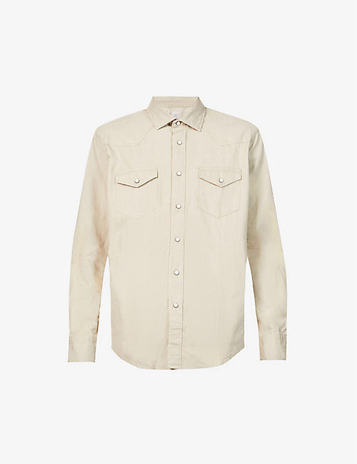 ELEVENTY: Spread-collar regular-fit cotton shirt