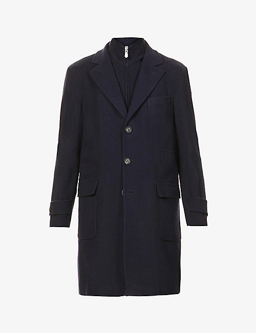 ELEVENTY: Single-breasted wool- and cashmere-blend coat