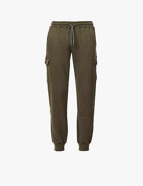 ELEVENTY: Drawstring-waistband tapered cotton-jersey jogging bottoms