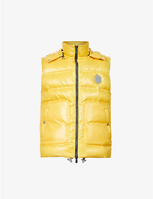 ELEVENTY: Padded hooded shell-down gilet