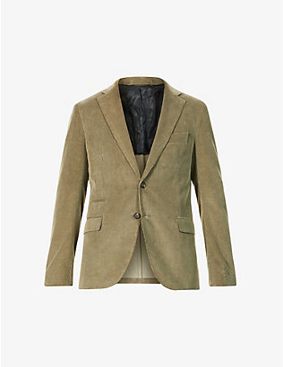 ELEVENTY: Notch-lapel cotton- and cashmere-blend corduroy blazer